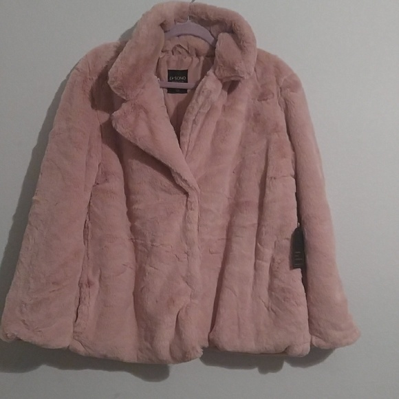 Faux Fur Collection Jacket Dusty Pink